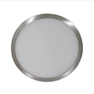 LED panel επιφανειακό 12W 3000K Θερμό λευκό Στρογγυλό Satin Nickel