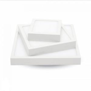 LED panel επιφανειακό 12W 3000K Θερμό λευκό Τετράγωνο