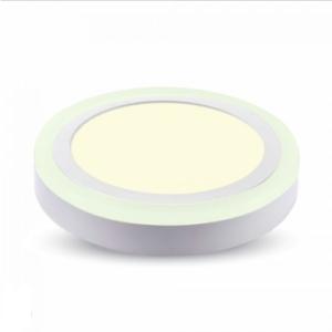 LED panel επιφανειακό 22W 3000K Θερμό λευκό Στρογγυλό