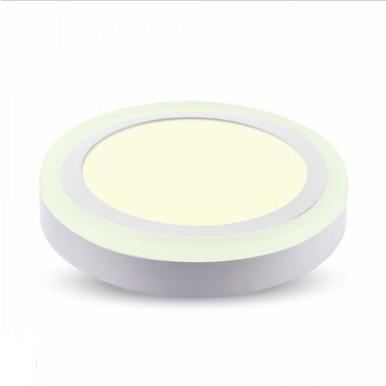 LED panel επιφανειακό 8W 6400K Λευκό Στρογγυλό