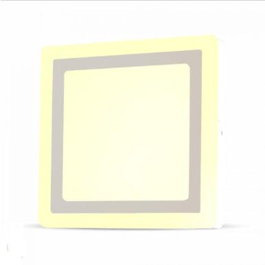 LED panel επιφανειακό 8W 4000K Φυσικό λευκό Τετράγωνο