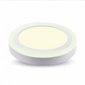 LED panel επιφανειακό 15W 3000K Θερμό λευκό Στρογγυλό