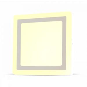 LED panel επιφανειακό 15W 3000K Θερμό λευκό Τετράγωνο