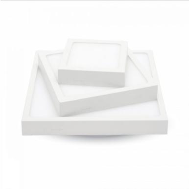 LED panel επιφανειακό 18W 3000K Θερμό λευκό Τετράγωνο