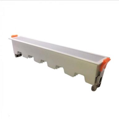 LED panel γραμμικό flat 20W 4000K Φυσικό λευκό με λευκό σώμα