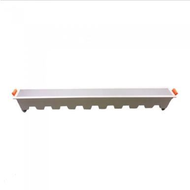 LED panel γραμμικό flat 30W 3000K Θερμό λευκό με λευκό σώμα