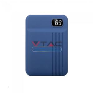 Power Bank 10000mAh με οθόνη και μπλε σώμα με 2 θύρες