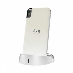 Wireless Power Bank 8000mAh με λευκό σώμα και βάση