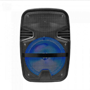 15W RECHARGEABLE TROLLEY SPEAKER WITH ONE WIRED MICROPHONE-RF CONTROL-RGB (8inch)