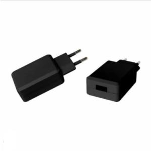 Ταχυφορτιστής ταξιδίου USB QC3.0, Μαύρο σώμα, σε συσκευασία blister