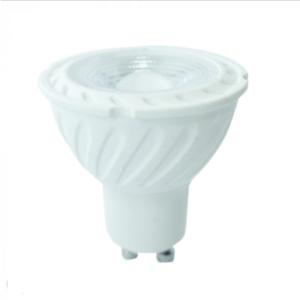 Λάμπα LED Spot GU10 Samsung chip SMD 6.5W λευκό 6400K λευκό σώμα 110°