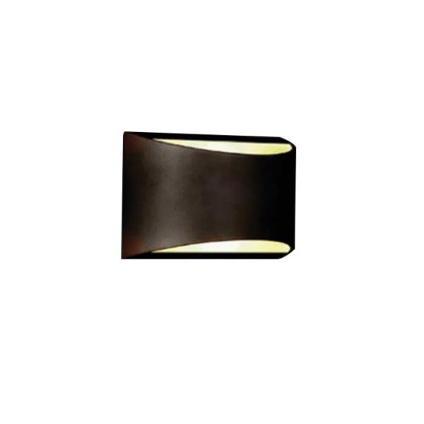 Επιτοίχιο LED φωτιστικό UP-DOWN 10W IP54 μαύρο σώμα 4000K