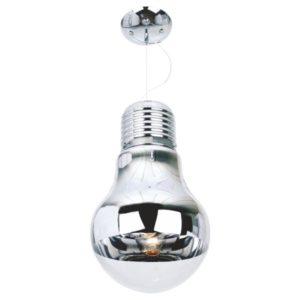 Μονόφωτο Φωτιστικό Οροφής σε σχήμα Λάμπα Ε27