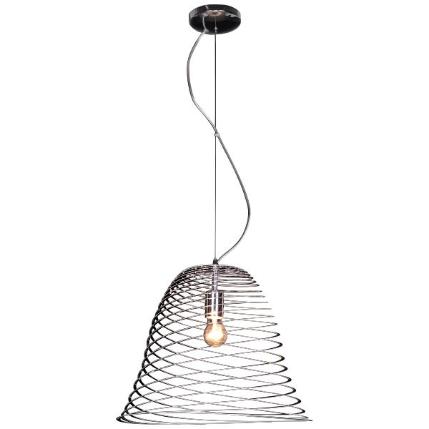 Μονόφωτο  κρεμαστό φωτιστικό οροφής Χρώμιο  Ε27 2055
