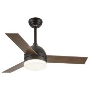 Ανεμιστήρας Οροφής LED 24W με 3 Πτερύγια Ξύλο Μαύρο