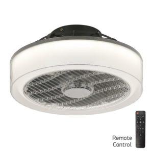 Ανεμιστήρας Οροφής LED 36W με Γκρι Διάφανο Plexiglass Κύκλος