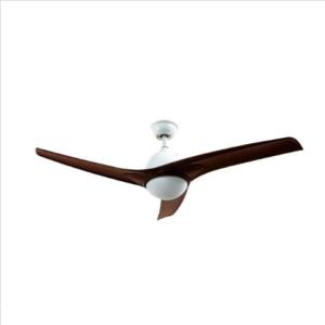 Ανεμιστήρας οροφής LED 35W καφέ σώμα 3 πτερυγίων με ρύθμιση μέσω RF control