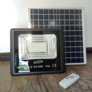 Ηλιακός προβολέας solar 60W αδιάβροχος IP65 με Τηλεκοντρόλ